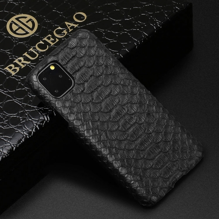 Python Snakeskin Snap-on Case for iPhone - Python Belly Skin - Black