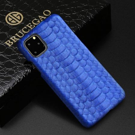 Python Snakeskin Snap-on Case for iPhone - Python Belly Skin - Blue