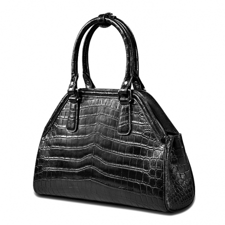 Alligator Leather Handbag Designer Tote Purse Top-handle Bag-Micro side