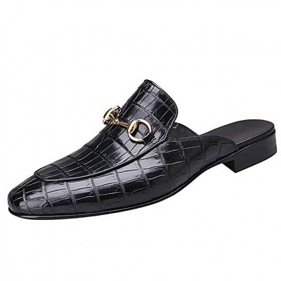 Alligator Leather Horsebit Slipper for Men