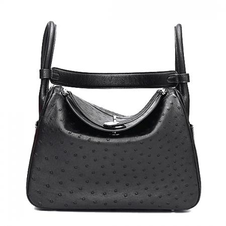 Genuine Ostrich Handbags Shoulder Tote Organizer Top Handle Bags