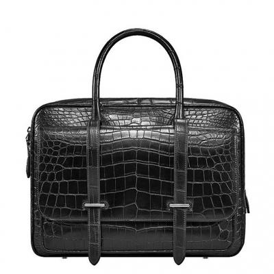 Luxury Alligator Leather Briefcase Laptop Bag Business Work Bag for Men