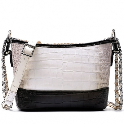 Alligator Leather Hobo Shoulder Bag