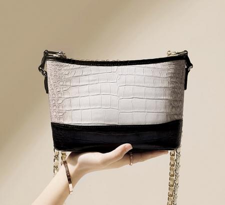 Alligator Leather Hobo Shoulder Bag for Women-1