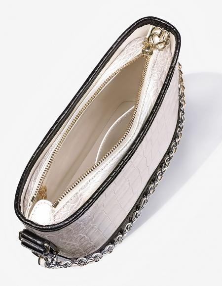 Alligator Leather Hobo Shoulder Bag for Women-Lining