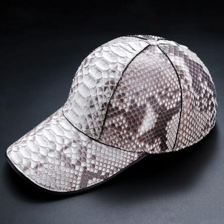 Python Skin Baseball Cap-White