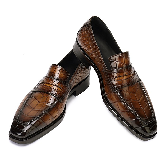 Alligator Leather Loafers