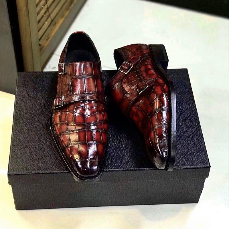Christmas Gift-BRUCEGAO Alligator Shoes