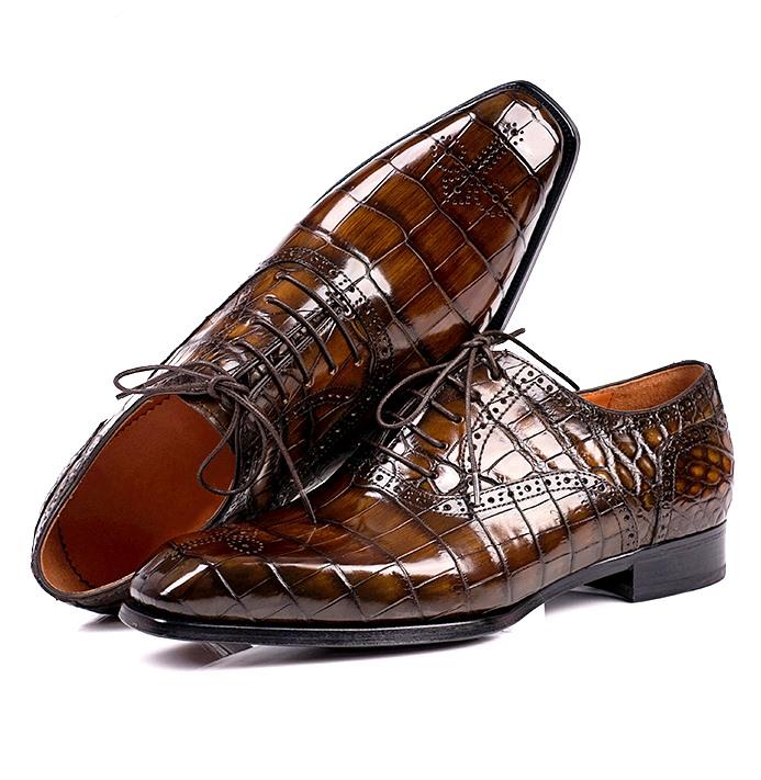 Handcrafted Alligator Wedding Dress Shoes