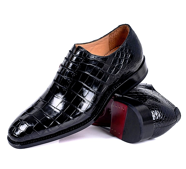 Handcrafted Wholecut Alligator Leather Oxford Shoes