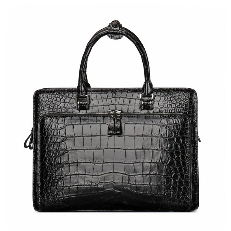 Alligator Leather Briefcase Messenger Bag