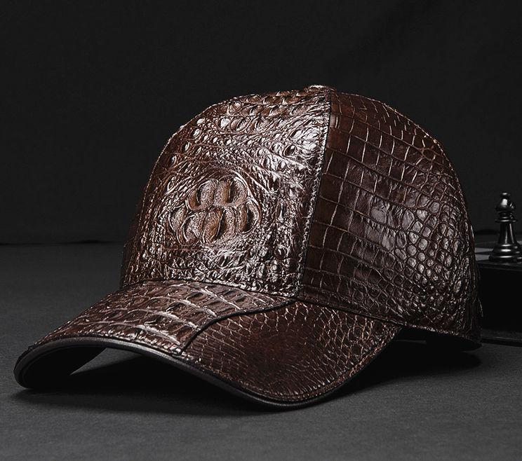 Crocodile Hornback Skin Baseball Cap