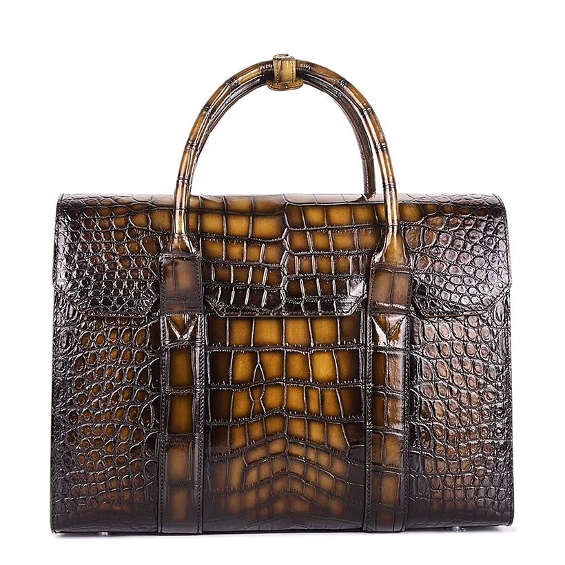 Handcrafted Alligator Leather Briefcase