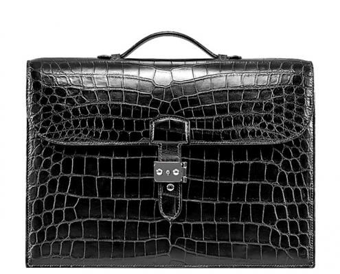 Style Alligator Leather Laptop Bag