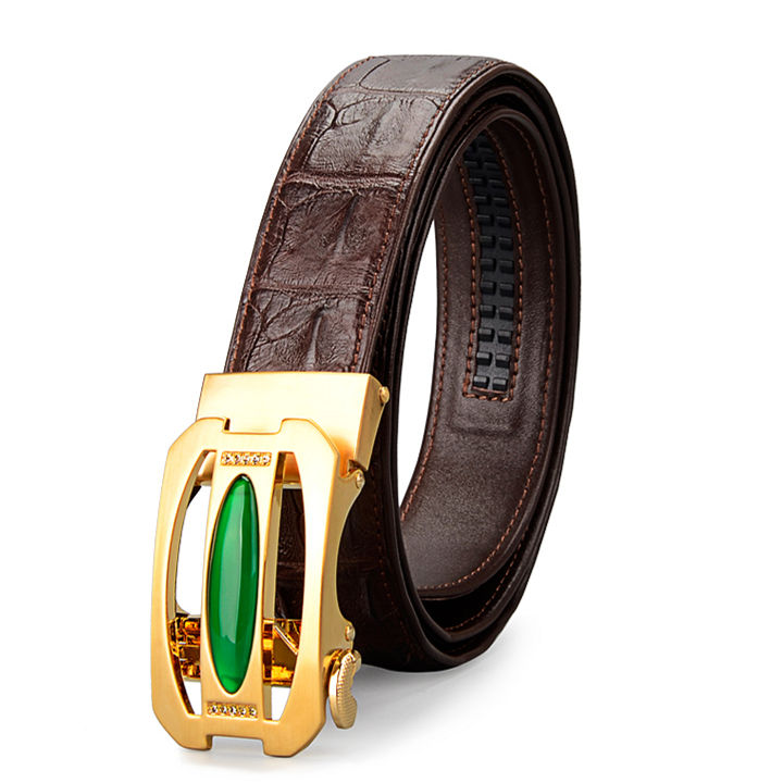 Unique Mens Alligator Belt With Agate Buckle