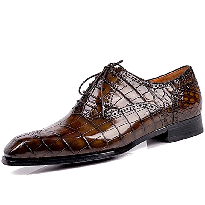 Formal Brogue Alligator Shoes