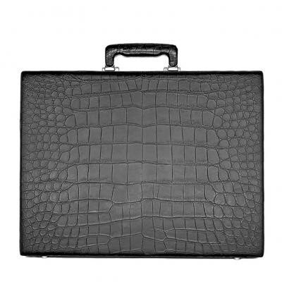 Alligator Leather Attache Briefcase Executive Case for Men