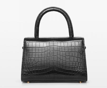 Designer Fashion Alligator Top Handle Bag Shoulder Bag for Ladies-Back