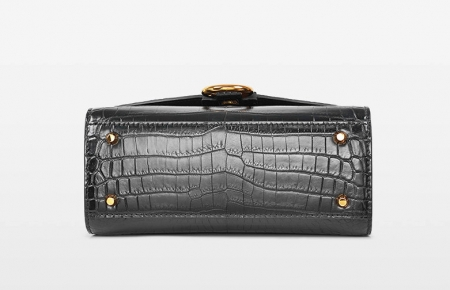 Designer Fashion Alligator Top Handle Bag Shoulder Bag for Ladies-Bottom