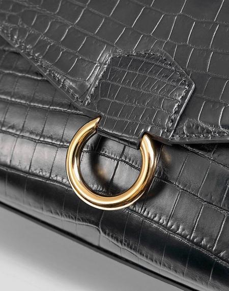 Designer Fashion Alligator Top Handle Bag Shoulder Bag for Ladies-Hardware