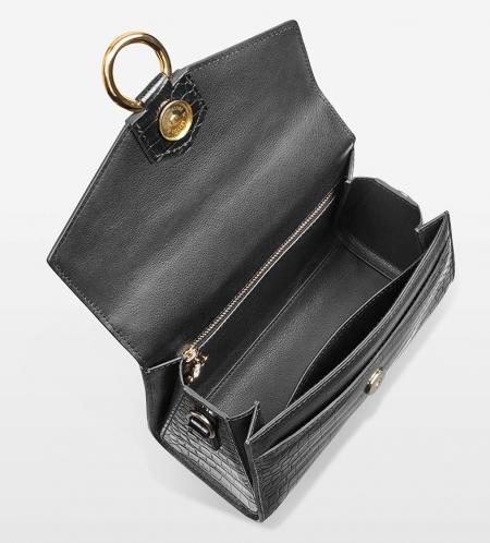 Designer Fashion Alligator Top Handle Bag Shoulder Bag for Ladies-Inside