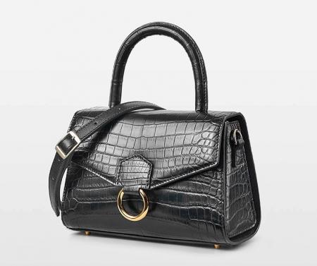 Designer Fashion Alligator Top Handle Bag Shoulder Bag for Ladies-Micro Side
