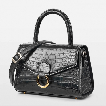 Designer Fashion Alligator Top Handle Bag Shoulder Bag for Ladies-Micro Side