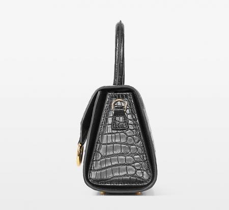 Designer Fashion Alligator Top Handle Bag Shoulder Bag for Ladies-Side