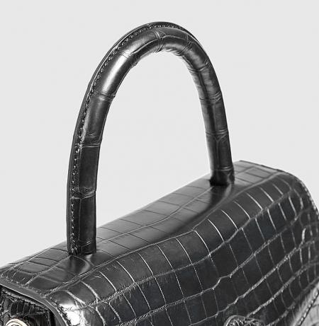 Designer Fashion Alligator Top Handle Bag Shoulder Bag for Ladies-Top Handle