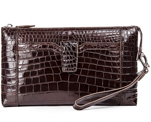 Alligator Clutch Wallet Business Zipper Long Card Holder