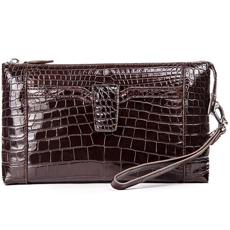 Alligator Clutch Wallet Business Zipper Long Card Holder