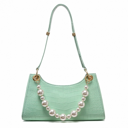 Designer Alligator Shoulder Purses Hobo Handbags-Green