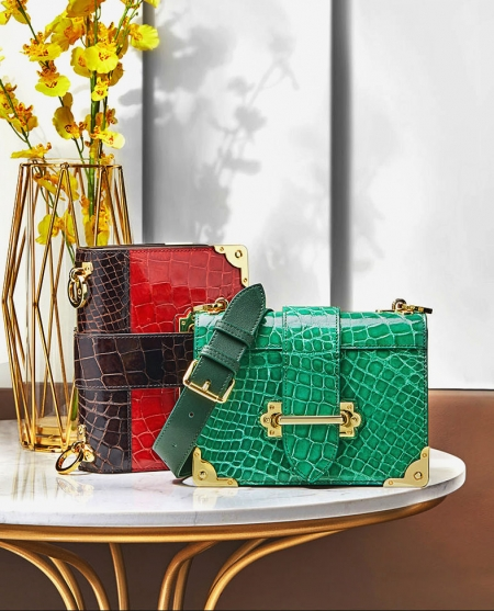 Mini Alligator Shoulder Bags Evening Clutch Purses