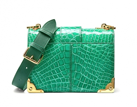 Mini Alligator Shoulder Bags Evening Clutch Purses - Back