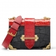 Mini Alligator Shoulder Bags Evening Clutch Purses - Black