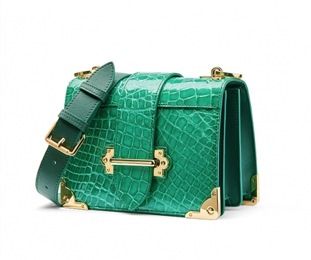 Mini Alligator Shoulder Bags Evening Clutch Purses - Side