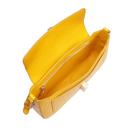Stylish Alligator Clutch Purses Shoulder Bags-Inside