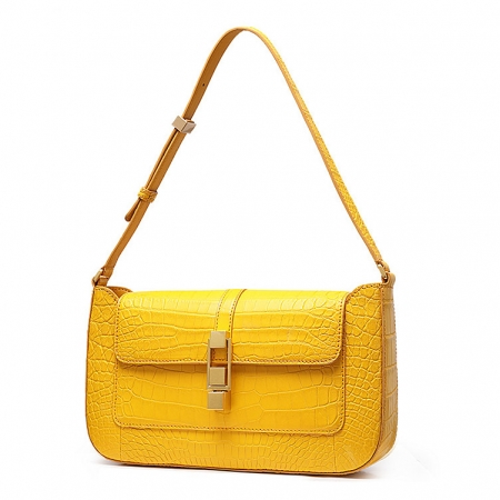 Stylish Alligator Clutch Purses Shoulder Bags-Micro Side