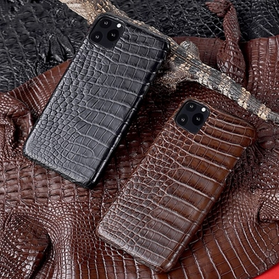 Crocodile & Alligator Leather Snap-on Cases for iPhone-Crocodile Belly Skin