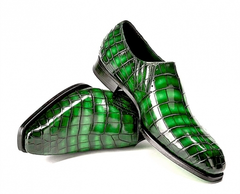 Designer Alligator Skin Slip-on Loafers for Men