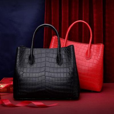 Alligator Leather Handbag Tote Shoulder Bag Crossbody Purse