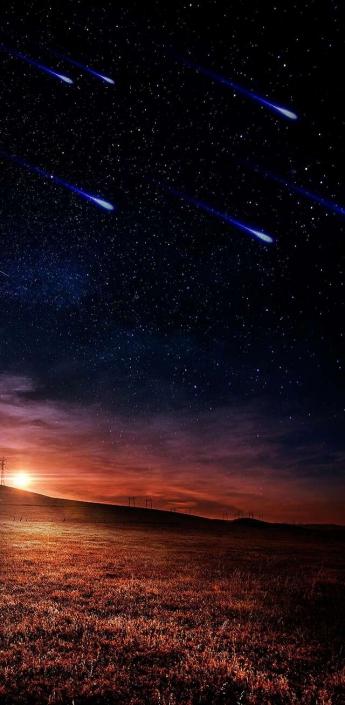 Starry Night HD - iPhone Wallpaper