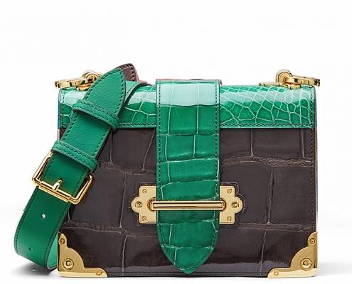 Best Luxury Shoulder Bags-Mini Alligator Shoulder Bags Evening Clutch Purses