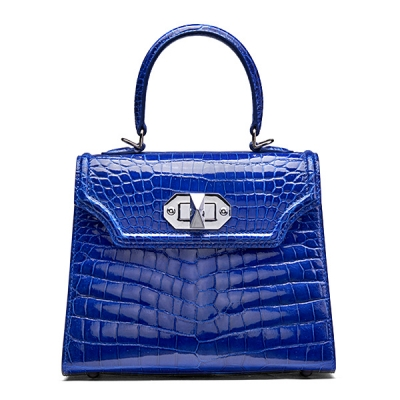 Designer Alligator Handbags Turn Lock Shoulder Bags