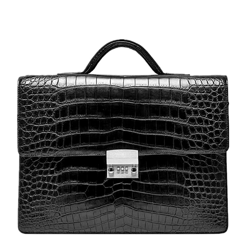 Alligator Leather Briefcase for Lawyers