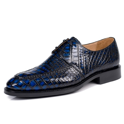 Classic Mens Alligator Derby Shoes Formal Business Shoes Modern Derby Oxford