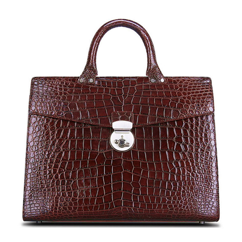 Luxury Alligator Lawyer Bag