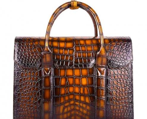Men's Alligator Leather Bag for Lawyers