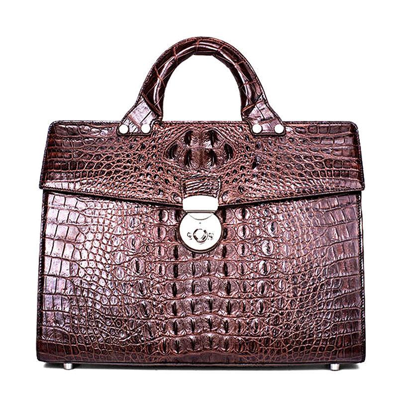 Men's Classic Original Crocodile Leather Briefcase