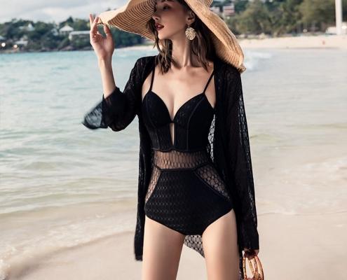 Bikini with kimono